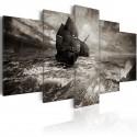 Obraz Okręt podczas sztormu