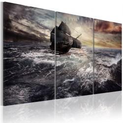 Obraz Samotny statek na pełnym morzu