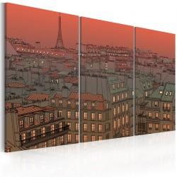 Obraz Paryska Wieża Eiffla na tle zachodzącego słońca