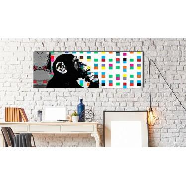Obraz  Banksy The Thinker Monkey