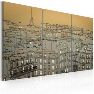 Obraz - Ostatnia chwila dnia - Paryż