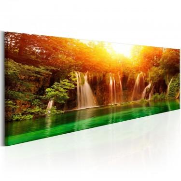 Obraz  Natura Zachwycający wodospad