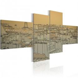 Obraz Ponad dachami Paryża (Retro)