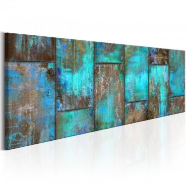 Obraz  Metalowa mozaika Niebieski