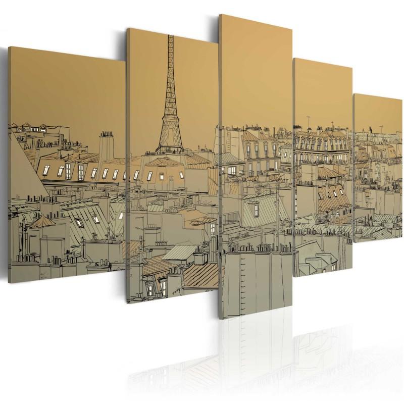 Obraz  Stary dobry Paryż (Vintage)