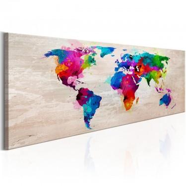 Obraz  Mapa świata Finezja kolorów