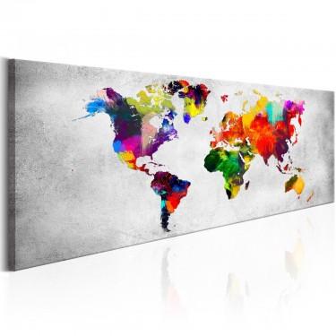 Obraz  Mapa świata Kolorowa rewolucja