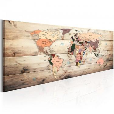 Obraz  Mapy świata Mapa marzeń