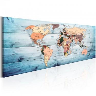 Obraz  Mapy świata Szafirowe podróże
