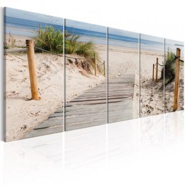 Obraz  Plaża po deszczu