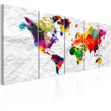 Obraz  Świat na papierze