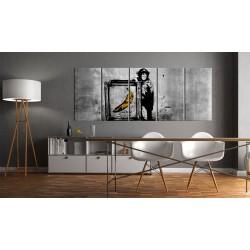 Obraz  Banksy Małpa z ramą