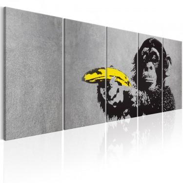 Obraz  Małpa i banan