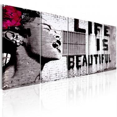 Obraz  Banksy Życie jest piękne