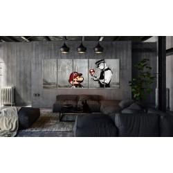 Obraz  Mario Bros na betonie