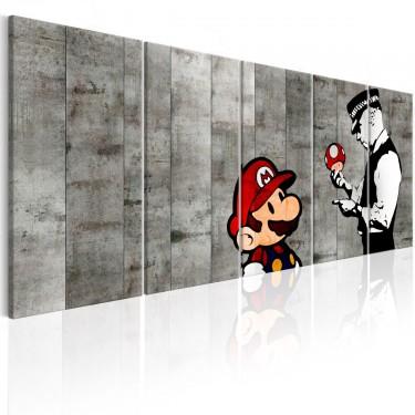 Obraz  Graffiti na betonie