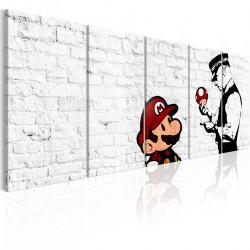 Obraz  Graffiti na cegle