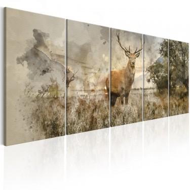 Obraz  Akwarelowy jeleń I