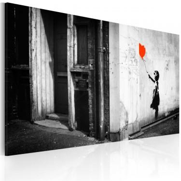 Obraz  Dziewczynka z balonikiem (Banksy)
