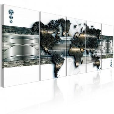 Obraz  Trójwymiarowa mapa