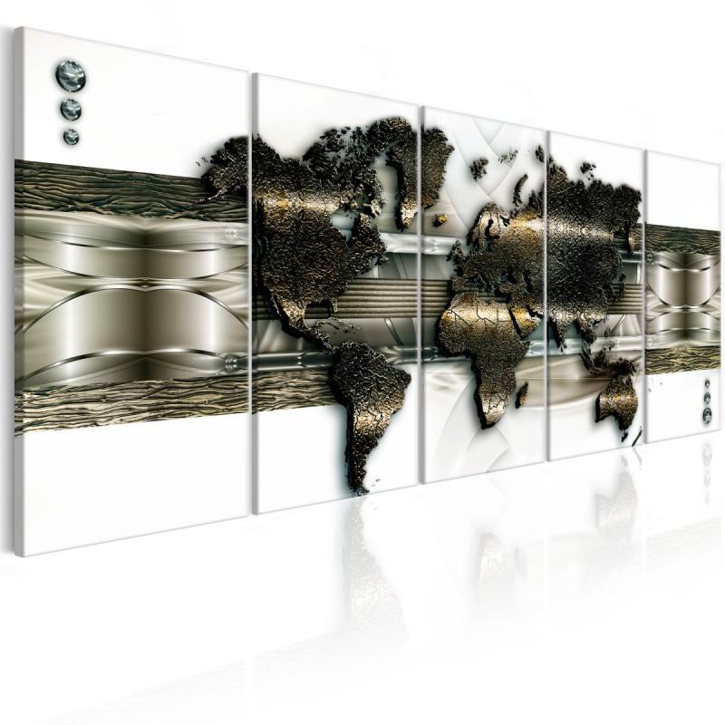 Obraz  Mapa świata nowe technologie