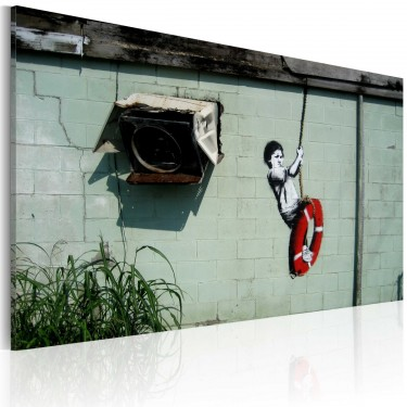 Obraz  Chłopiec na huśtawce (Banksy)