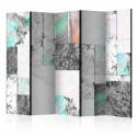 Parawan 5częściowy Płyty marmurowe II [Room Dividers]