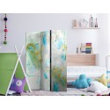 Parawan 3częściowy Kolorowy marmur [Room Dividers]