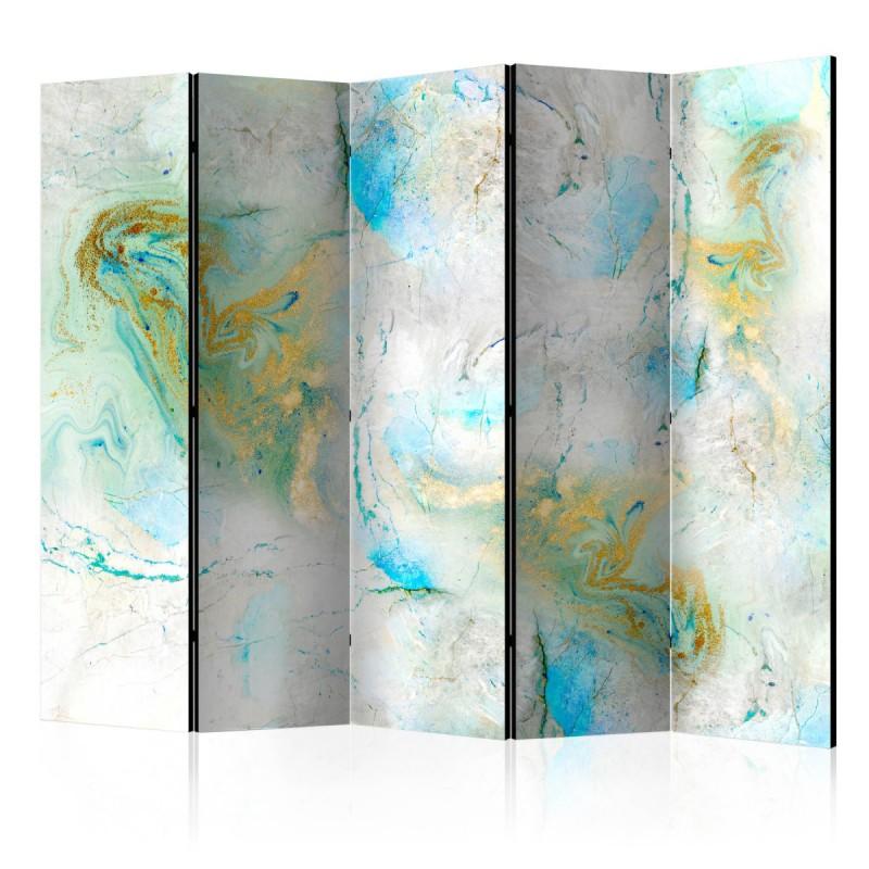 Parawan 5częściowy Kolorowy marmur II [Room Dividers]