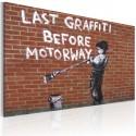 Obraz Ostatnie graffiti przed autostradą (Banksy)