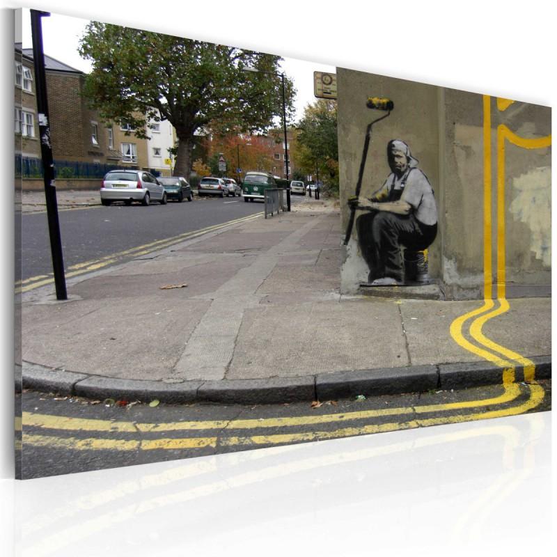 Obraz  Żółty kwiat (Banksy)
