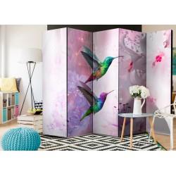 Parawan 5częściowy  Kolorowe kolibry II [Room Dividers]