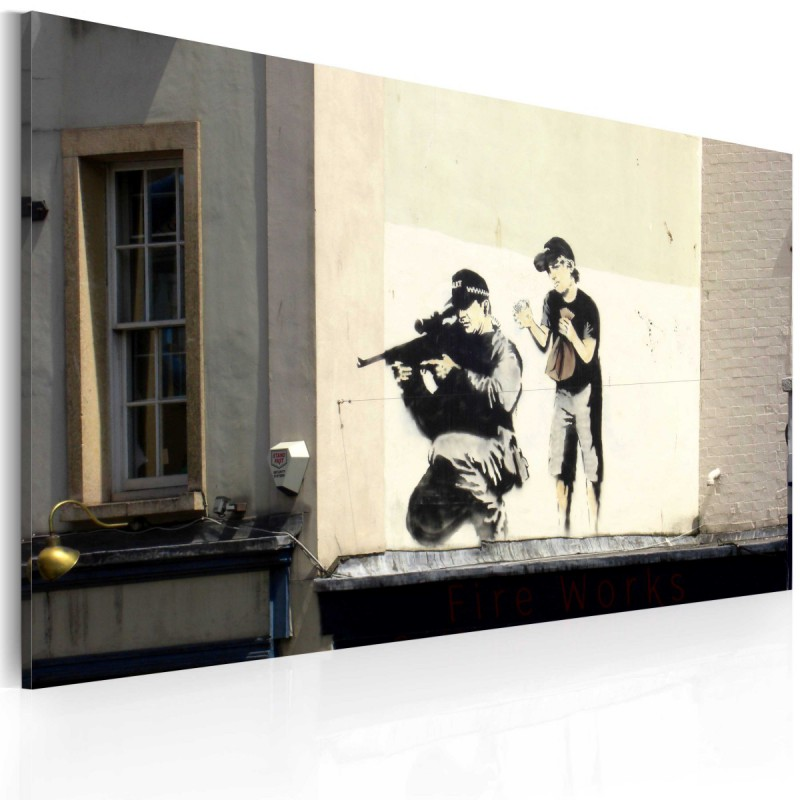 Obraz  Snajper i chłopiec (Banksy)