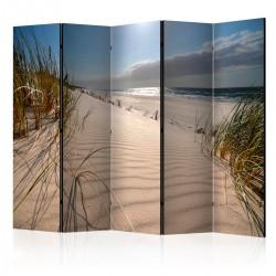 Parawan 5częściowy Plaża w Mrzeżynie II [Room Dividers]