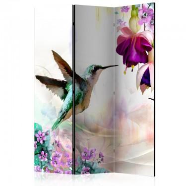 Parawan 3częściowy  Kolibry i kwiaty [Room Dividers]