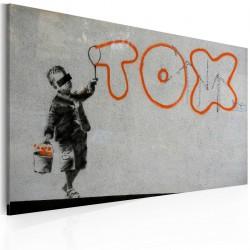 Obraz  Tapeta graffiti (Banksy)