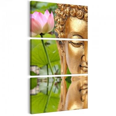 Obraz  Posąg z kwiatem