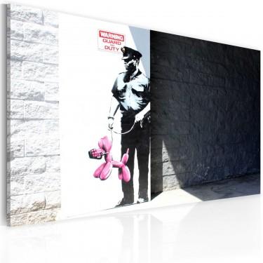 Obraz  Policjant i różowy pies (Banksy)
