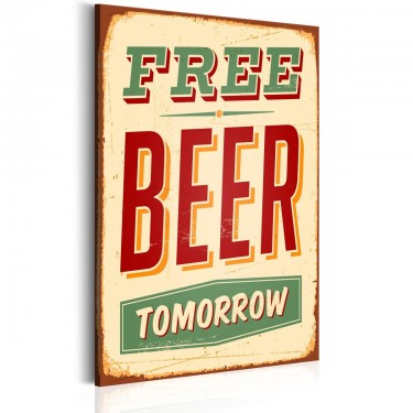 Obraz  Free Beer Tomorrow