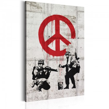 Obraz  Soldiers Painting Peace by Banksy