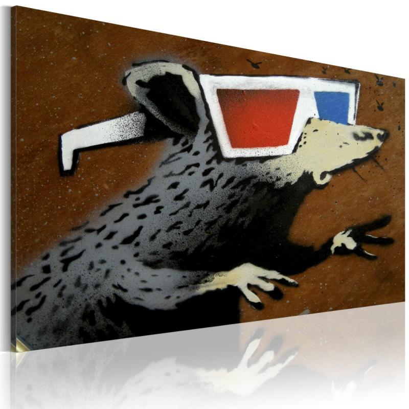 Obraz Szczur w okularach 3D (Banksy)