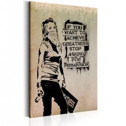 Obraz  Graffiti Slogan by Banksy