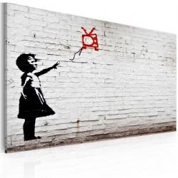 Obraz  Dziewczynka z telewizorem (Banksy)