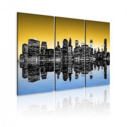 Obraz - NYC lustrzane odbicie - tryptyk