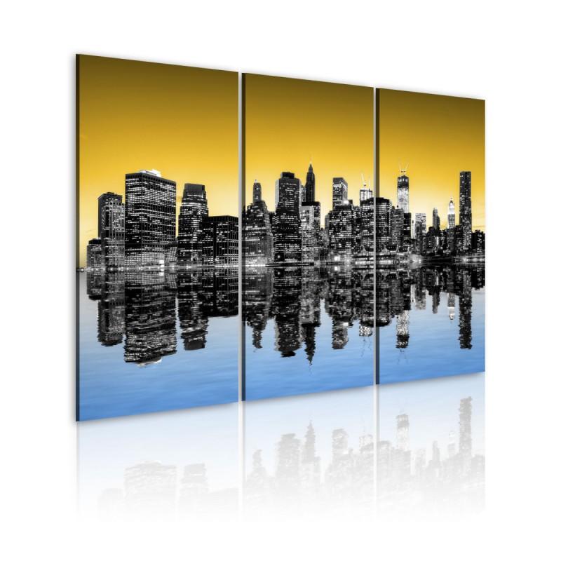 Obraz  NYC lustrzane odbicie  tryptyk