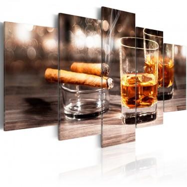 Obraz  Cygaro i whisky