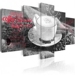 Obraz - Coffe, Espresso, Cappuccino, Latte machiato ... - black and white