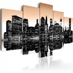 Obraz - Tonący Nowy Jork - 5 części