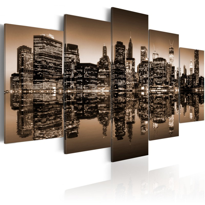 Obraz  Melancholijny Nowy Jork  5 części