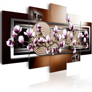 Obraz  Ogród Zen i magnolia